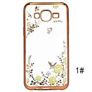 Для Кейс для  Samsung Galaxy Прозрачный Кейс для Задняя крышка Кейс для Цветы TPU Samsung J7 (2016) / J7 / J5 (2016) / J5