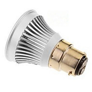 3W E14 GU5.3(MR16) B22 E26/E27 LED szpotlámpák MR16 1 led COB Meleg fehér Hideg fehér 250-300lm 6000-6500K DC 12V