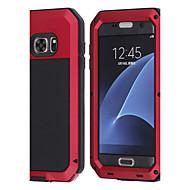 ieftine -Maska Pentru Samsung Galaxy S8 Plus / S8 / S7 edge Anti Șoc / Rezistent la Apă Carcasă Telefon Animal Greu MetalPistol