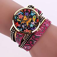 Χαμηλού Κόστους Μποέμ ρολόγια-Γυναικεία Μοδάτο Ρολόι Χαλαζίας Καθημερινό Ρολόι Δέρμα Μπάντα Μποέμ Μαύρο Λευκή Μπλε Ασημί Κόκκινο Καφέ Πράσινο Ροζ Μωβ Μπεζ Ναυτικό Rose