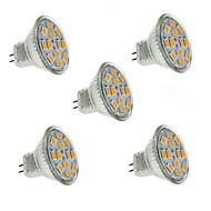 お買い得  LED スポットライト-1.5W 130-150 lm GU4(MR11) LEDスポットライト MR11 12 LEDの SMD 5730 装飾用 温白色 DC 12V