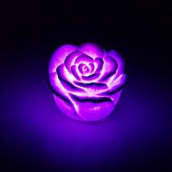abordables Lámparas Portátiles-luz creativa de la noche de cambio de color de rosa de acrílico llevó la luz de color rosa amantes de los regalos de decoración del hogar