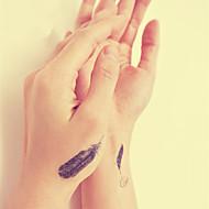 водонепроницаемый временную татуировку наклейка перо татуировки тотем переноса воды поддельные татуировки