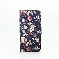 Недорогие Чехлы и кейсы для Galaxy A3(2016)-Для Кейс для  Samsung Galaxy Бумажник для карт / со стендом / Флип / С узором / Магнитный Кейс для Чехол Кейс для Цветы Искусственная кожа