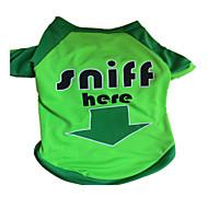 Hunde T-shirt Grün Hundekleidung Sommer Buchstabe & Nummer