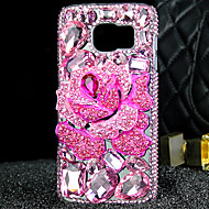 cheap Cases / Covers for Samsung-Case For Samsung Galaxy Samsung Galaxy S7 Edge Rhinestone Transparent Back Cover 3D Cartoon TPU for S7 edge S7