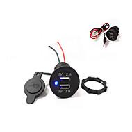 Недорогие Автомобильные зарядные устройства-двойной USB автомобильное зарядное устройство 5v 4.2a высокое качество! водонепроницаемый!
