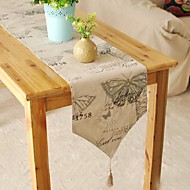 Neliö Patterned Table Runners , Mélange Lin/Coton materiaali Taulukko Dceoration