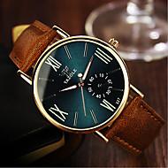 Недорогие Фирменные часы-YAZOLE Муж. / Жен. / Для пары Наручные часы Защита от влаги Кожа Группа Кулоны / Мода Черный / Хаки
