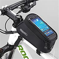 お買い得  -ROSWHEEL 携帯電話バッグ / 自転車用フレームバッグ 4.8 インチ タッチスクリーン サイクリング のために Samsung Galaxy S6 / iPhone 4/4S / Samsung Galaxy S4 イエロー / 防水ファスナー