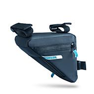 billige -ROSWHEEL® Sykkelveske 1.2LVesker til sykkelramme Vanntett Glidelås / Fukt-sikker / Støtsikker / Anvendelig Sykkelveske PU Lær / 400D Nylon