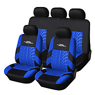 cheap Car Seat Covers-Universal Fit for Car, Truck, Suv, or Van Polyester Car Seat Cover Full Set Full Seat Cover Set (9 Pieces) Blue