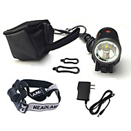 Headlamps / Bike Lights / Front Bike Light LED Cree XM-L T6 Cycling Waterproof / Rechargeable / Impact Resistant 18650 1200 Lumens Battery