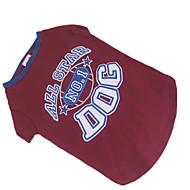お買い得  -犬 Tシャツ 犬用ウェア レッド/ブルー コットン コスチューム ペット用