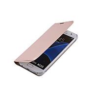 abordables Fundas / Carcasas para Galaxy Serie A-caso trasero vista ventana de lujo del tirón la cubierta de cuero para la galaxia A310 / A510 / A710 (colores surtidos)