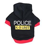 Katzen Hunde Kapuzenshirts Schwarz Hundekleidung Winter Frühling/Herbst Polizei / Militär Niedlich Modisch