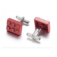 cheap Cufflinks-Red Cufflinks Alloy Work / Casual Men's Costume Jewelry For