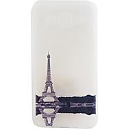 Для Кейс для  Samsung Galaxy Матовое Кейс для Задняя крышка Кейс для Эйфелева башня Мягкий TPU Samsung J7 / J5 / J1 2015 / J1