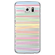 Για Samsung Galaxy S7 Edge Διαφανής / Με σχέδια tok Πίσω Κάλυμμα tok Γραμμές / Κύματα Μαλακή TPU SamsungS7 edge / S7 / S6 edge plus / S6