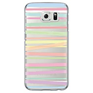 Mert Samsung Galaxy S7 Edge Átlátszó / Minta Case Hátlap Case Vonalak / hullámok Puha TPU SamsungS7 edge / S7 / S6 edge plus / S6 edge /