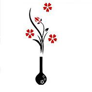 voordelige -Botanisch Wall Stickers 3D Muurstickers Decoratieve Muurstickers,acrylic Materiaal Verstelbaar / Wasbaar / Verwijderbaar Huisdecoratie