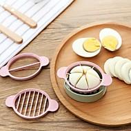 Χαμηλού Κόστους Εργαλεία κουζίνας-Πλαστική ύλη Δημιουργική Κουζίνα Gadget για αυγό Cutter & Slicer
