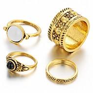 abordables Anillos-Mujer Anillo de declaración - Vintage Casual Moda Plata Dorado anillo Para Boda Fiesta Diario Casual