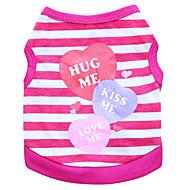 お買い得  -ネコ 犬 Tシャツ 犬用ウェア ハート パープル ブルー ピンク コットン コスチューム ペット用 男性用 女性用 ファッション