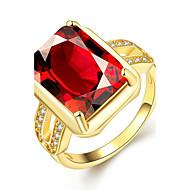 お買い得  -女性用 バンドリング 婚約指輪  -  ゴールドメッキ ヴィンテージ, ファッション, 誕生石です. 7 / 8 ワイン 用途 結婚式 パーティー 日常