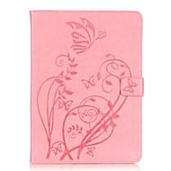 Для Кейс для  Samsung Galaxy Бумажник для карт / Кошелек / со стендом / Флип / Рельефный Кейс для Чехол Кейс для Цветы Мягкий