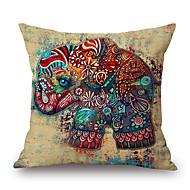 1pcs malowanie tuszem wzór słonia pokryta poduszką bawełny