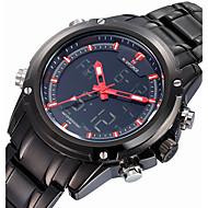 Недорогие Фирменные часы-NAVIFORCE Муж. Кварцевый Японский кварц Спортивные часы Будильник Календарь Защита от влаги Хронометр С двумя часовыми поясами ЖК экран
