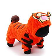 고양이 강아지 코스츔 점프 수트 강아지 의류 귀여운 코스프레 휴일 만화 오렌지 코스츔 애완 동물
