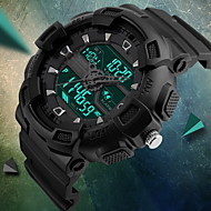 SKMEI Муж. Спортивные часы электронные часы Кварцевый Цифровой Японский кварц LCD Календарь Защита от влаги С двумя часовыми поясами С