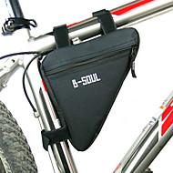 お買い得  -B-SOUL 自転車用フレームバッグ / トライアングルフレームバッグ 防湿, 耐久性, 耐衝撃性の 自転車用バッグ ポリエステル / PVC / テリレン 自転車用バッグ サイクリングバッグ サイクリング / バイク / 防水ファスナー
