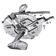 cheap Toys & Hobbies-Millennium Falcon 3D Puzzles Metal Puzzles Model Building Kits Spacecraft 3D Metal War 8 to 13 Years