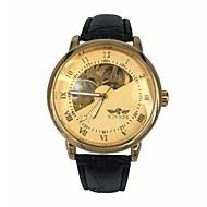 Недорогие Фирменные часы-WINNER Муж. Наручные часы Механические часы С автоподзаводом Черный С гравировкой Аналоговый Роскошь - Золотой