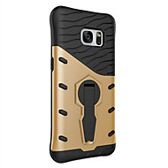 cheap Cases / Covers for Samsung-Case For Samsung Galaxy Samsung Galaxy S7 Edge Shockproof 360° Rotation Back Cover Armor Hard TPU for S7 edge S7 S6 edge plus S6 edge S6