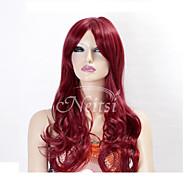 жен. Парики из искусственных волос Лента спереди Естественные кудри Розовый Светло-синий Светло-Розовый Fuxia # 613B Карнавальные парики