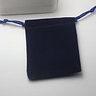 זול -תיקי תכשיטים בד 1pc כחול
