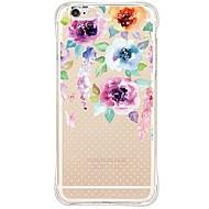 Voor iPhone 6 hoesje / iPhone 6 Plus hoesje Waterbestendig / Schokbestendig / Stofbestendig / Transparant hoesje Achterkantje hoesje Bloem