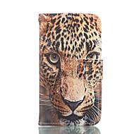 Для Кейс для  Samsung Galaxy Бумажник для карт / Кошелек / со стендом / Флип Кейс для Чехол Кейс для Животный принт МягкийИскусственная