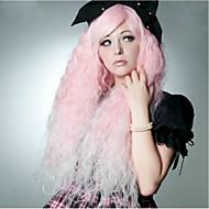 Vrouw Synthetische pruiken Erg lang Watergolf Roze Carnaval Pruik Cosplaypruik Halloween Pruik Kostuumpruiken