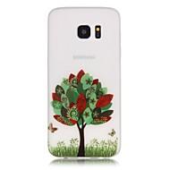 Для Samsung Galaxy S7 Edge Сияние в темноте / С узором Кейс для Задняя крышка Кейс для дерево Мягкий TPU SamsungS7 edge / S7 / S6 edge
