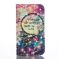 """Для Кейс для  Samsung Galaxy Кошелек / Бумажник для карт / со стендом / Флип Кейс для Чехол Кейс для Рисунок """"Ловец снов"""" Мягкий"""