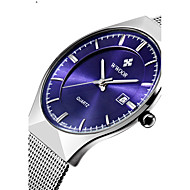 WWOOR Men's Couple's Fashion Watch Wrist watch Dress Watch Quartz Calendar Water Resistant / Water Proof Stainless Steel Band Luxury