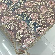 Suorakulma Patterned Kirjottu Table Cloths , Polyesteri materiaali Hotel ruokapöytä