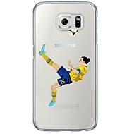 halpa Galaxy S4 kotelot / kuoret-Etui Käyttötarkoitus Samsung Galaxy Samsung Galaxy S7 Edge Läpinäkyvä Kuvio Takakuori Piirretty Pehmeä TPU varten S7 edge S7 S6 edge plus