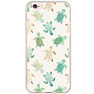 Недорогие Кейсы для iPhone 8 Plus-Кейс для Назначение Apple iPhone X iPhone 8 iPhone 6 iPhone 6 Plus Защита от пыли Защита от удара С узором Кейс на заднюю панель Животное