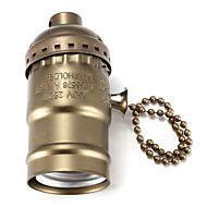 portalampada E27 bachelite lampadina base con interruttore nero / bronzo / argento / colore dorato